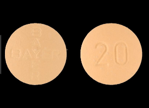 Close view of a Vardenafil pack