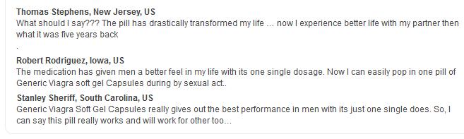Viagra Soft Pills reviews