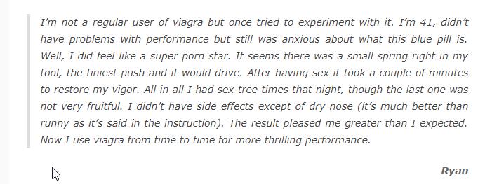 Viagra Forum Experience
